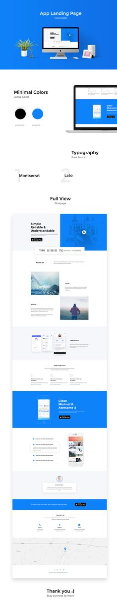 This is a concept design of App Landing Page,