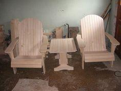 Vrtna garnitura 2X adirondack stol in mizica