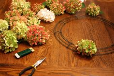 The Cellar Door Stories: How to Make a Hydrangea Wreath