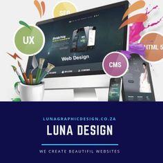 We create stunning responsive websites Lunagraphicdesign.co.za #webdesigncapetown Web Design, Website, Create, Instagram, Design Web, Website Designs, Site Design