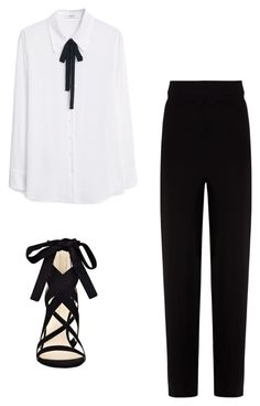 """""""Untitled #31"""" by cece2chic ❤ liked on Polyvore featuring MANGO, Balenciaga and Nine West"""