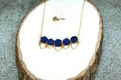Blue Lapis Gold Necklace
