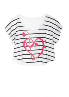 Treble Heart Tee. I love this but can we make it longer for normal people?!?