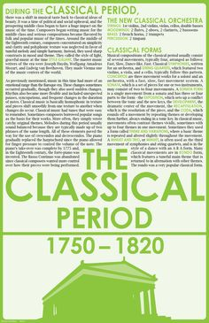 Classical Period, Classical Music, Piano Lessons, Music Lessons, Piano Music, Art Music, Kids Music, Sheet Music, Middle School Music