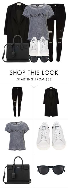 """Style #11346"" by vany-alvarado ❤ liked on Polyvore featuring River Island, adidas and Yves Saint Laurent"
