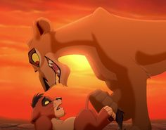 Photo of Zira and cub Kovu  for fans of The Lion King 2:Simba's Pride.