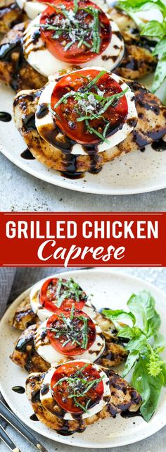 Check out this This recipe for chicken caprese is grilled seasoned chicken, topped with fresh mozzarella, ripe tomatoes, basil and balsamic reduction. A quick… The post This recipe for chicken caprese is grilled seasoned chicken, topped with fresh m… appe Caprese Chicken, Balsamic Chicken, Chicken Caprese Recipe Easy, Chicken With Mozzarella, Recipe For Chicken, Grilled Italian Chicken, Pan Grilled Chicken, Mozzarella Caprese, Vegetarian