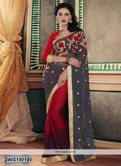 Saree Indian Designer Party Ware Traditional Ethnic Sattin Silk Saree Sari Sf 01 Other Women's Clothing