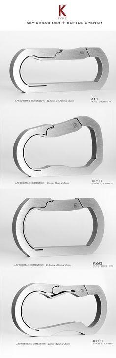 MAS Design carabiners - single piece CNC machined