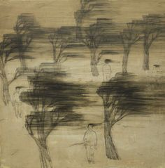 Wang Tzu-Ting - Big Wind (2010) - Acrylic and pencil on canvas