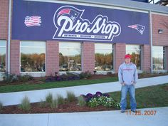 Caleb at Tom Brady's parking spot in 2007!  This year we are all going to the Denver vs. Pat's on 10/7/12 - Go Patriots!