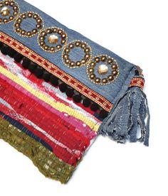 Boho chic handbag. Kourelou clutch. Patchwork por HaveaFlowerDay