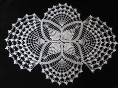 Crochet 26 x 20 inch white oval doily by JustCrocheting on Etsy, $40.00