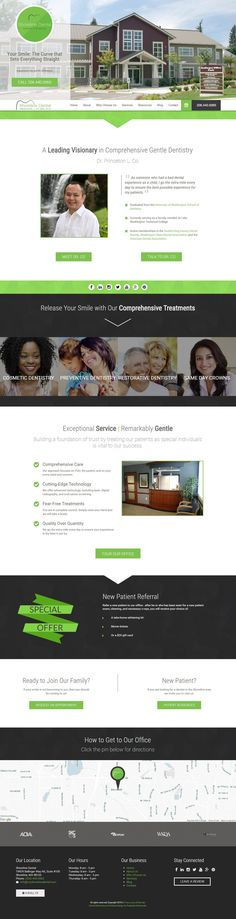 Clean and modern responsive dental website for Shoreline Dental