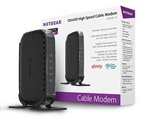 NETGEAR CM400 (8x4) DOCSIS 3.0 Cable Modem. Max download speeds of 340Mbps. Certified for Xfinity from Comcast, Spectrum, Cox, Cablevision & more (CM400-1AZNAS) - The NETGEAR CM400 High Speed Cable Modem provides a connection to high-speed cable Internet, up to 340 Mbps. It is Cable Labs certified and with DOCSIS 3.0 is 8X faster than 2.0. It is compatible with U.S. cable Internet providers like Cablevision, Cox, Time Warner Cable, XFINITY & more.