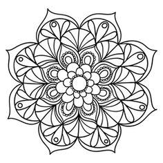 Mandala Floral #18