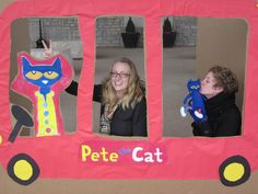 Make a Photobooth Minibus for a Pete the Cat Party at the Orange Branch Library Birthday Board, Cat Birthday, 4th Birthday Parties, Birthday Party Decorations, Birthday Celebration, Birthday Ideas, Graduation Theme, Preschool Graduation, Cat Bedroom
