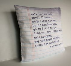 Give a little kid pillow a facelift with this cool organic cotton cover. The quote is fun and inspiring, and will eventually look great in a college dorm room. To buy: My Bearded Pigeon, Law Of Love, Magic Words, Kids Pillows, Pillow Talk, Life Advice, Make Me Happy, Big Kids, Favorite Quotes, Growing Up