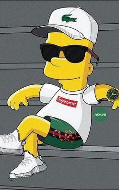 bart simpsons Supreme X Bart Simpson Wallpaper HD - simpsons Gucci Wallpaper Iphone, Simpson Wallpaper Iphone, Nike Wallpaper, Dark Wallpaper, Cartoon Wallpaper, Hd Wallpaper Android, Simpsons Drawings, Simpsons Art, Simpsons Supreme