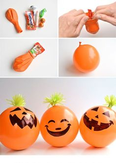 Candy Filled Balloon Pumpkins - Halloween Party Favors Candy Filled Balloon Pumpkins - Halloween Party Favors Original article and pictu...