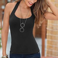 a96a3afcdea70 New HIgh Quality Women Summer Sexy Camisole Tank Top Casual Sleeveless Neck  Lady shirt Halter Vest
