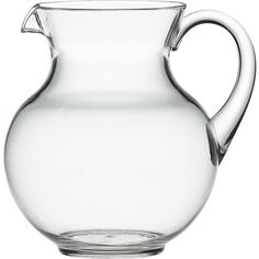 Happy Acrylic Pitcher in Dining & Entertaining | Crate and Barrel