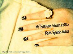 Kate Spade Nails  Instructions at http://polisheddiaries.blogspot.com/2012/03/runway-inspired-kate-spade-fw-2012.html