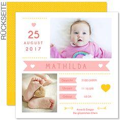 Geburtskarten für Mädchen - Von Herzen - 0
