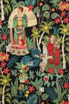 frida's garden fabric by alexander henry