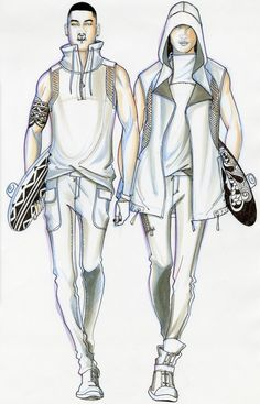 Illustration and design by paul keng menswear fashion sketchbook, fashion d Moda Fashion, Sport Fashion, Urban Fashion, Fashion Art, Style Fashion, Fashion Shoes, Fashion Dresses, Fashion Jewelry, Man Illustration