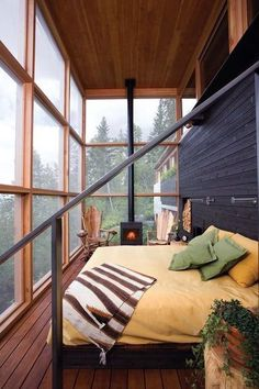 "Home Interior Design — Cozy Bedroom…Expansive Views - ""Stone Creek Camp"". Dream Bedroom, Home Bedroom, Bedroom Decor, Bedroom Storage, Bedroom Ideas, Design Bedroom, 1930s Bedroom, Master Bedroom, Outdoor Bedroom"
