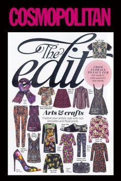 Floral Velvet Dress in Cosmopolitan Magazine