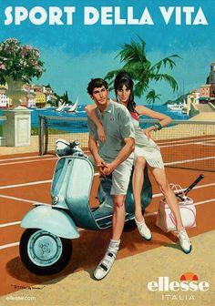 Robert McGinnis for ellesse 'Sport Della Vita' Campaign