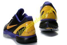 Nike Kobe 6 VI Shoes Cheap For Sale Black Del Sol Purple 436311 071