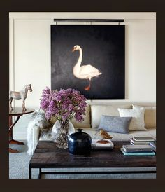 DESIGN BOARD - design indulgence...blue-gray, cognac, contrasts of light & dark, lighter accents Love the colors