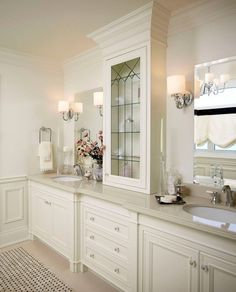 Below are the Traditional Bathroom Design Ideas. This post about Traditional Bathroom Design Ideas was posted under the Bathroom category … White Vanity Bathroom, Modern Bathroom, Small Bathroom, Bathroom Ideas, Bathroom Vanities, Bathroom Designs, Bathroom Cabinets, White Bathrooms, Guys Bathroom