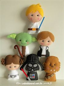 Star Wars PDF Pattern Pocket Version - Baby Star Wars - Ideas of Baby Star Wars - Star Wars PDF Pattern Pocket Version by walartesanal on Etsy Star Wars Christmas, Felt Christmas, Natal Star Wars, Star Wars Crafts, Star Wars Baby, Felt Patterns, Sewing Box, Felt Toys, Felt Ornaments
