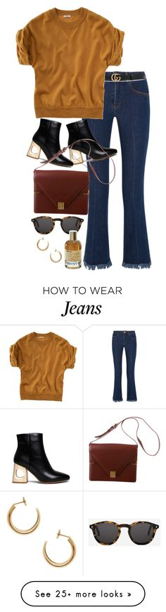 """""""Untitled #10763"""" by nikka-phillips on Polyvore featuring Sonia Rykiel, Gucci, Monokel, Madewell, Cartier, Maison Margiela and Le Labo"""