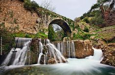 Xylokambos Waterfalls near Sparta town Lakonia region Peloponnese Greece Destinations, Ancient Greece, Greece Travel, The Good Place, Greek, Old Things, Europe, City, World