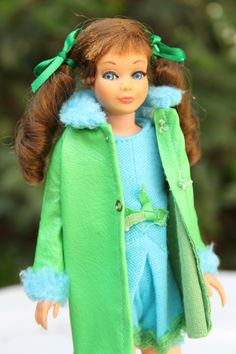 """Skipper in """"Wow! What a Cool Outfit!"""" from 1969 Sears Exclusive Bright and Breezy Set; Skipper Doll Gift Set #1590"""