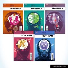 Rian Hughes Iron Man covers from a few years back - some of the best comic book design I've ever seen.