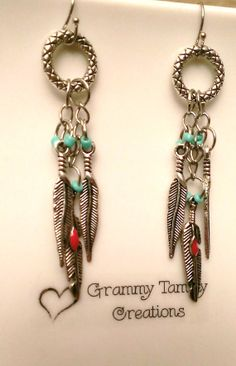 $9.00 Free Shipping - Silver Feathers Earrings, clip on, post or hook style, lovely & beautiful, great gift for teens, goes with everything,