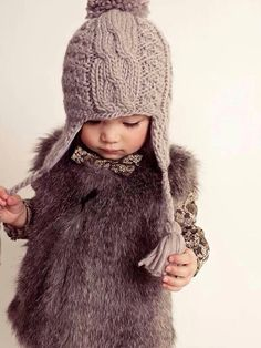 #clickaway A cute little girl and a great ensemble of clothes in monochromatic tones.