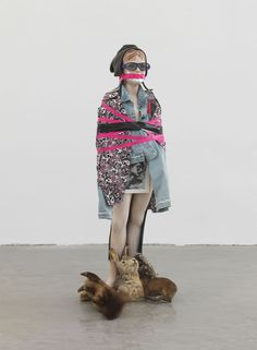 Isa Genzken brings the inanimate to life with his theatrical look at societal relationships...