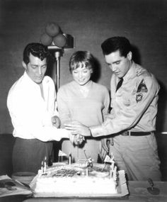 Dean Martin, Shirley MacLaine and Elvis Presley.