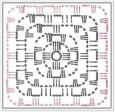 PATRONES - CROCHET - GANCHILLO - GRAFICOS: CROCHET GRANNY ,SU GRAFICO = PATRONES DE GRANNY