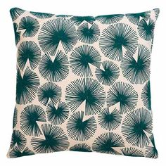 sparks-blue-green-16-pillow cb2 embroidery mid century modern teal