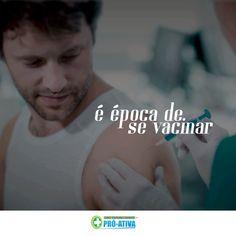 Sabemos a importância de tomar a vacina contra a gripe. Ainda temos vacinas para você ficar imune. #ProAtiva #SaúdeOcupacional #Ipatinga