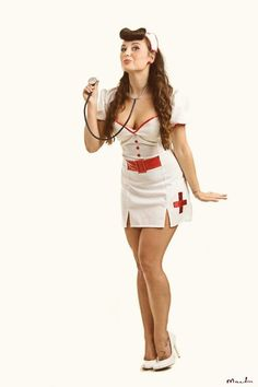 shot self Naughty nurse