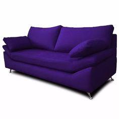 sofa 2 cuerpos en chenille/ talamapaya - patas metal